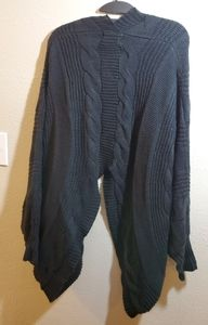 Military Hippie cardigan cable knit sweater